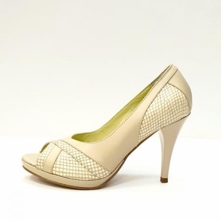Pantofi Dama Piele Naturala Bej Edena D02610 [1]