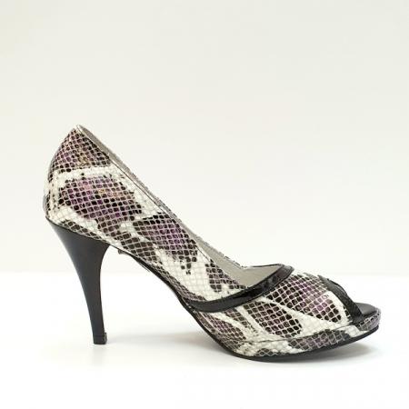 Pantofi Dama Piele Naturala Multicolori Hofolia D026110
