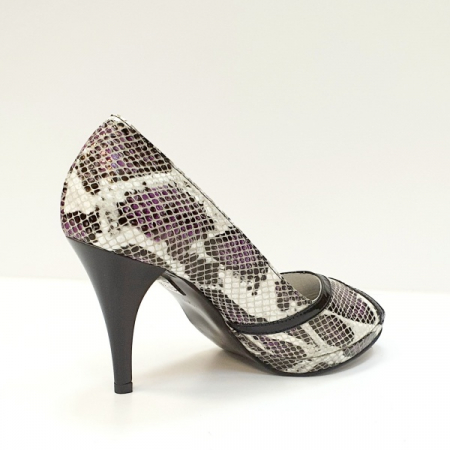 Pantofi Dama Piele Naturala Multicolori Hofolia D026113
