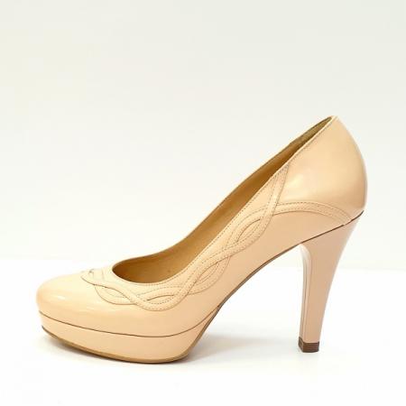 Pantofi cu toc Piele Naturala Nude Asinefa D026141