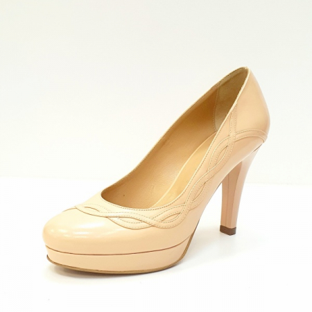 Pantofi cu toc Piele Naturala Nude Asinefa D026142