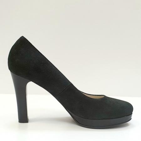 Pantofi cu toc Piele Naturala Negri Ezra D026160