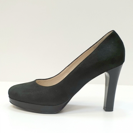 Pantofi cu toc Piele Naturala Negri Ezra D026161