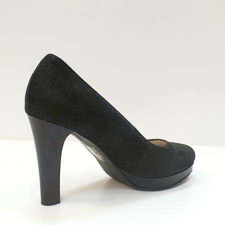Pantofi cu toc Piele Naturala Negri Ezra D026163
