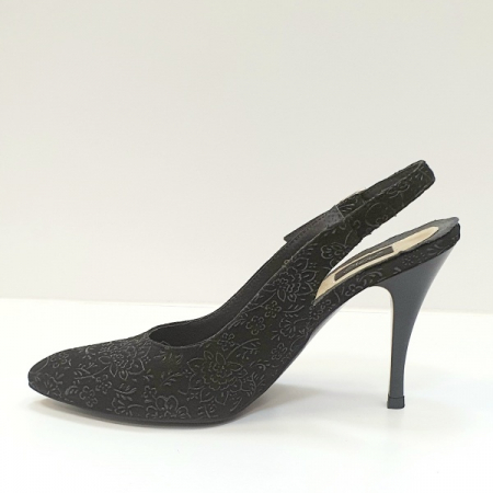 Pantofi Dama Piele Naturala Negri Jerusa D026241