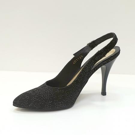 Pantofi Dama Piele Naturala Negri Jerusa D026242