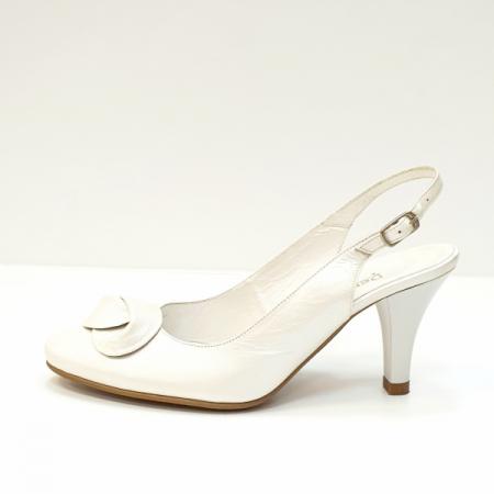 Pantofi Dama Piele Naturala Albi Lea D026251