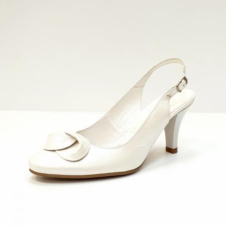 Pantofi Dama Piele Naturala Albi Lea D026252