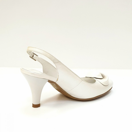 Pantofi Dama Piele Naturala Albi Lea D026253