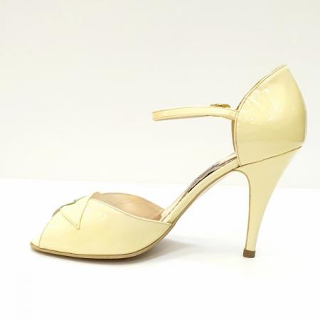 Sandale Dama Piele Naturala Bej Guban Hermiona D026291