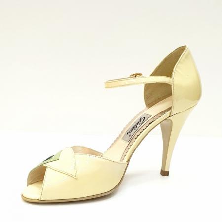 Sandale Dama Piele Naturala Bej Guban Hermiona D026292
