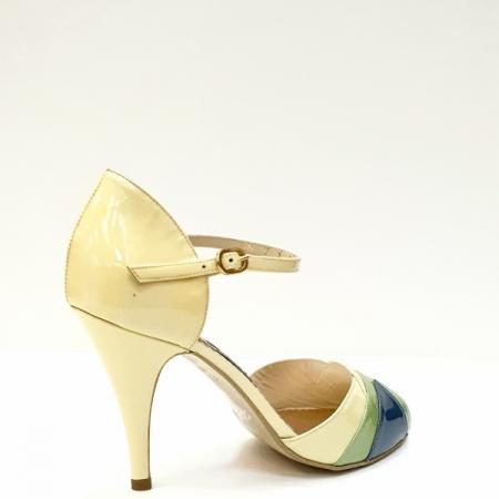 Sandale Dama Piele Naturala Bej Guban Hermiona D026293