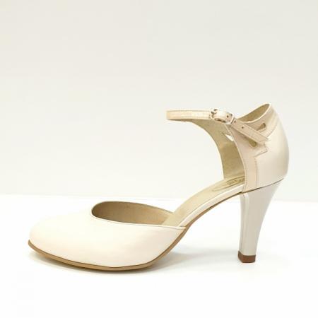 Pantofi Dama Piele Naturala Bej Guban Hermiona D026301