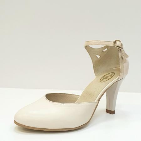 Pantofi Dama Piele Naturala Bej Guban Hermiona D026302