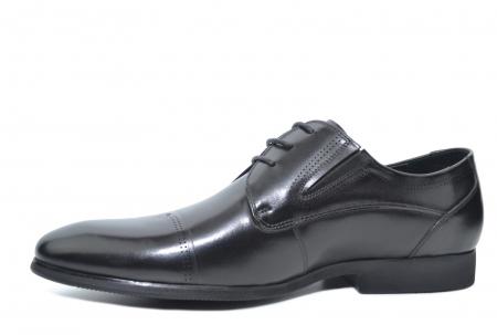 Pantofi Barbati Piele Naturala Negri Emanuel B000502