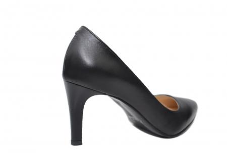 Pantofi cu toc Piele Naturala Negri Isabella D022003