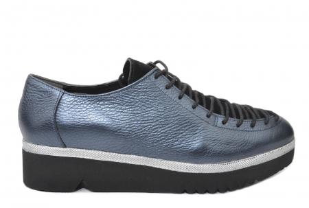 Pantofi Casual Piele Naturala Bleumarin Dorothea D02203 [0]