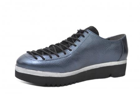 Pantofi Casual Piele Naturala Bleumarin Dorothea D02203 [2]