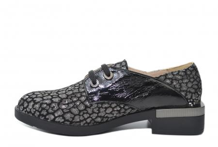 Pantofi Oxford Piele Naturala Neagra Letizia D022021