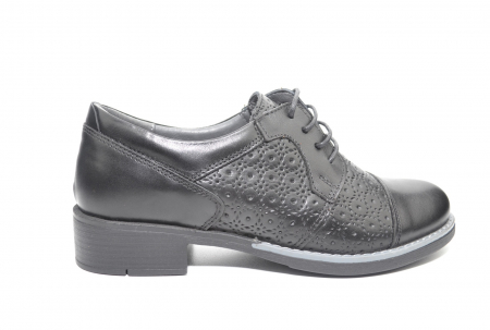 Pantofi Oxford Piele Naturala Neagra Anita D022080