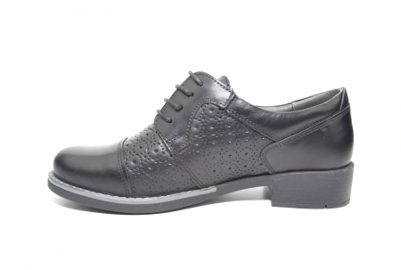 Pantofi Oxford Piele Naturala Neagra Anita D022081