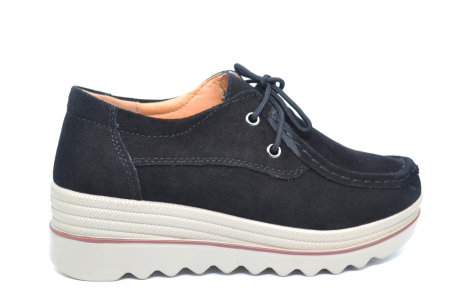 Pantofi Casual Piele Naturala Negri Caterina D02262 [0]