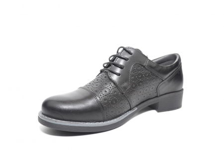 Pantofi Oxford Piele Naturala Neagra Anita D022082