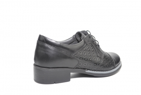 Pantofi Oxford Piele Naturala Neagra Anita D022083