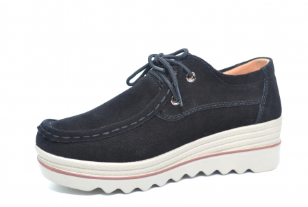 Pantofi Casual Piele Naturala Negri Caterina D02262 [2]