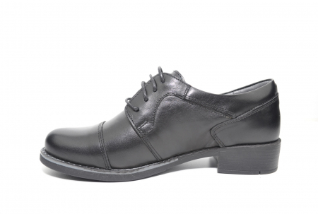 Pantofi Oxford Piele Naturala Neagra Anita D022061