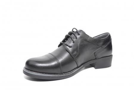 Pantofi Oxford Piele Naturala Neagra Anita D022062