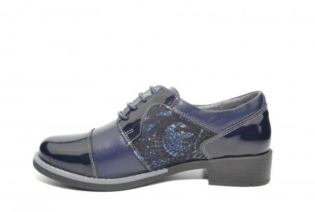 Pantofi Piele Oxford Naturala Bleumarin Anita D022051