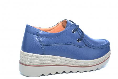 Pantofi Casual Piele Naturala Bleumarin Caterina D022593