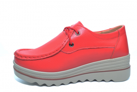 Pantofi Casual Piele Naturala Rosii Caterina D02263 [1]