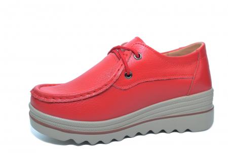 Pantofi Casual Piele Naturala Rosii Caterina D02263 [2]