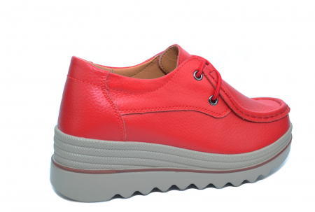 Pantofi Casual Piele Naturala Rosii Caterina D02263 [3]