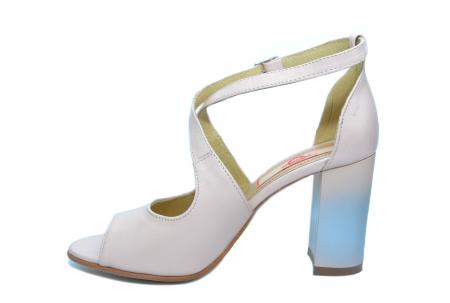 Pantofi Piele Naturala Bej Francisa1