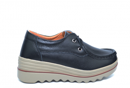 Pantofi Casual Piele Naturala Negri Caterina D022610