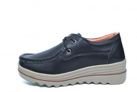 Pantofi Casual Piele Naturala Negri Caterina D022611