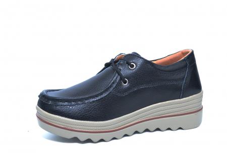 Pantofi Casual Piele Naturala Negri Caterina D022612