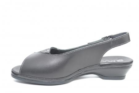 Sandale Piele Naturala Negre Bianca1