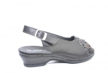 Sandale Piele Naturala Negre Bianca3