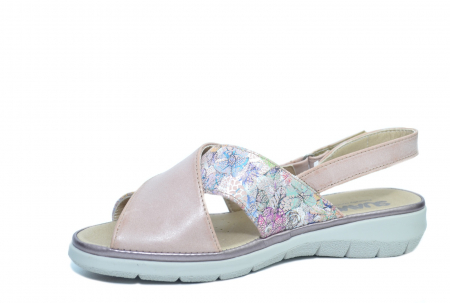 Sandale Piele Naturala Roze Lucia2
