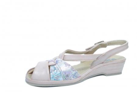 Sandale Piele Naturala Roze Hanna [2]