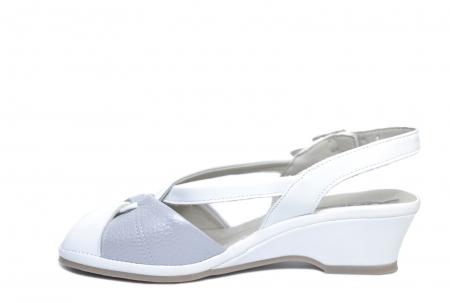 Sandale Piele Naturala Albe Silvia1
