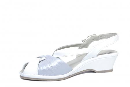 Sandale Piele Naturala Albe Silvia2