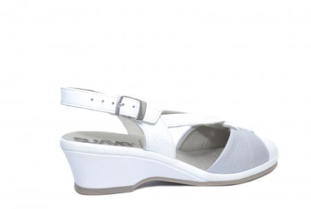 Sandale Piele Naturala Albe Silvia3