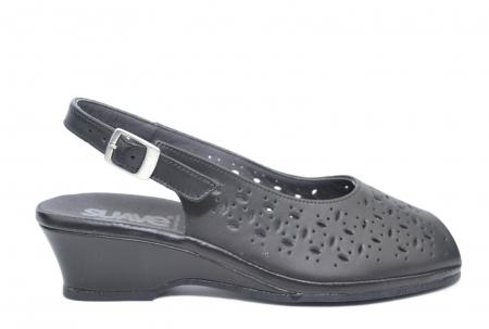 Sandale Piele Naturala Negre Antonella0