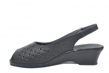 Sandale Piele Naturala Negre Antonella1