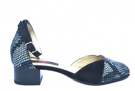 Pantofi Dama Piele Naturala Negri Renee D022220